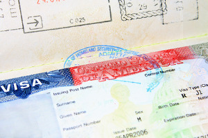 empty J1 visa waiting to be filled out by a foreign student