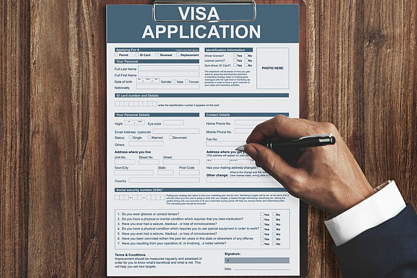 application for an EB-5 visa in which a business investor from outside of the country will come to the United States and work at their new job