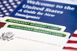permanent resident card of an EB-5 visa card holder