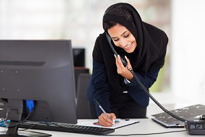 arab woman learning how to obtain a seasonal worker visa