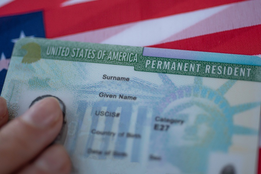 green card for the united states