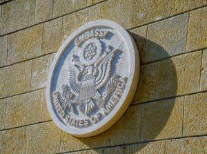 applicant completes H1B visa process at U.S. embassy