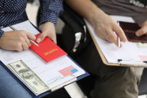 during the h-1b visa application process different fees will pop up
