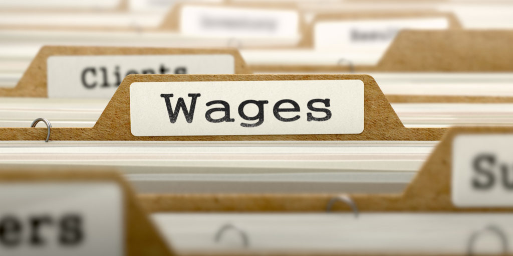 wages folder has documents regarding prevailing wage determination