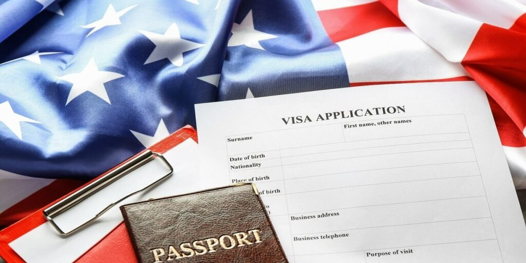 What is IR1 Visa- US Flag with Visa Application