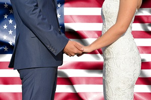 conceptual photograph of marriage in united states of america